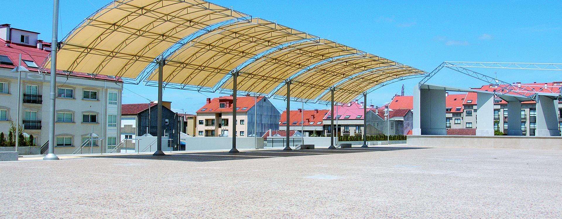 Plaza y parking Europa, Lalín - Galicia Spain