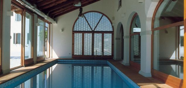 swimming pool tiles from Oderzo, Private House Treviso, Italy