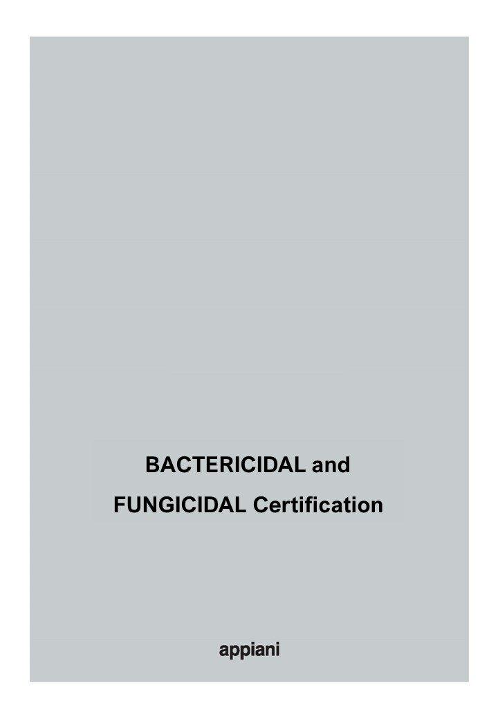 BACTERICIDAL and FUNGICIDAL